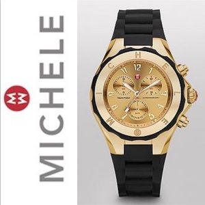 Michele Jelly Watch - Black Jelly